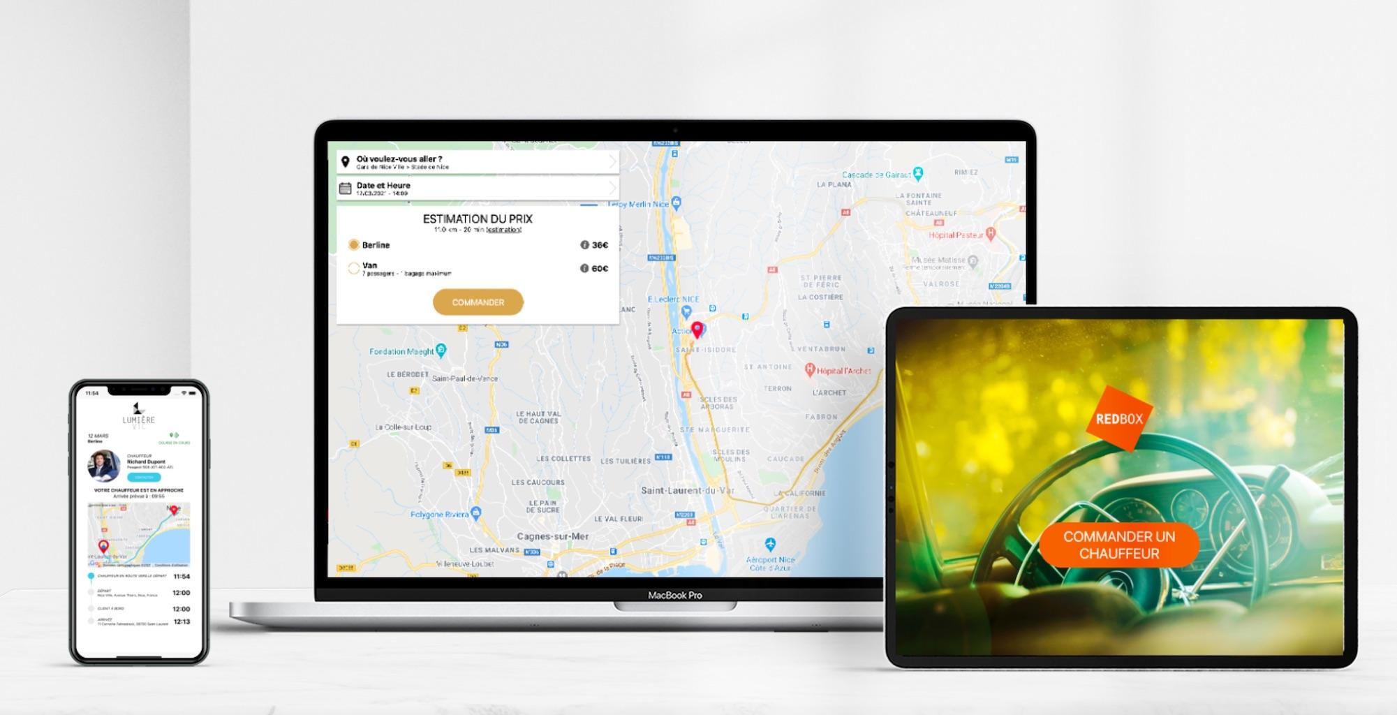Lien de suivi de course, web app et application en mode borne